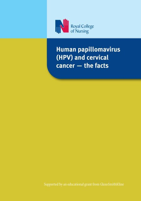 human papillomavirus (hpv) cervical screening and cervical cancer rcn guidance
