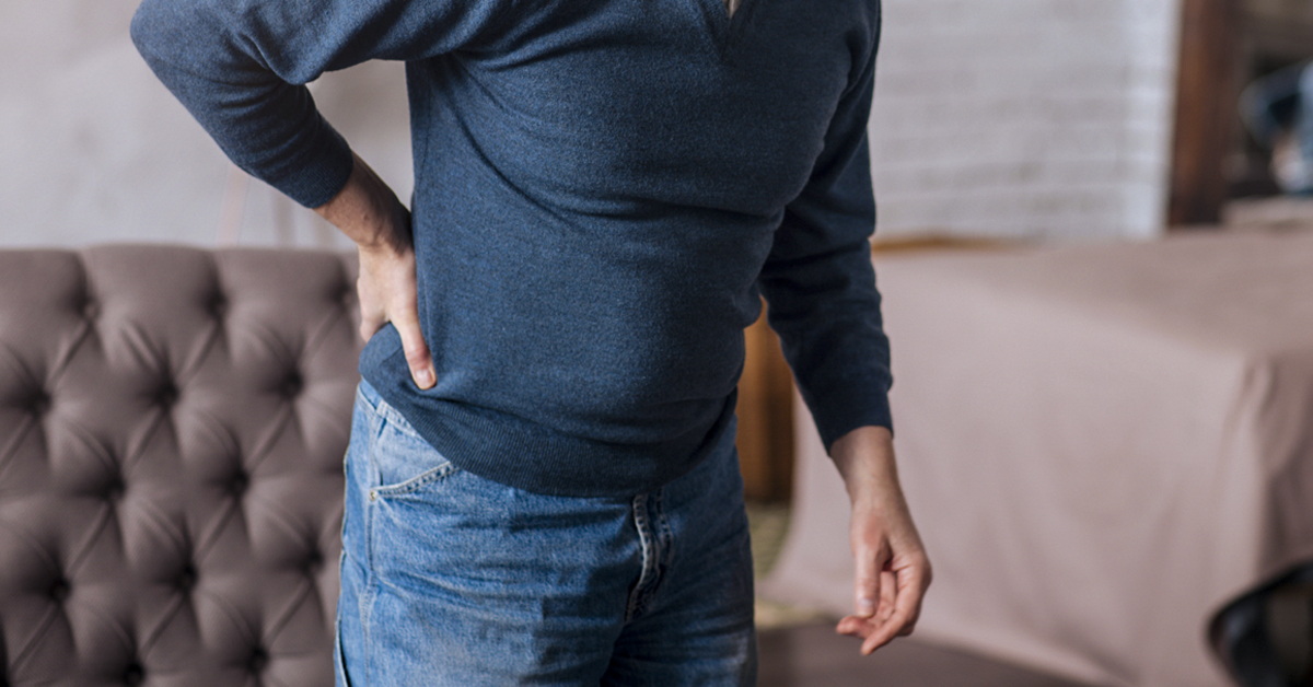 testicular cancer pain in back