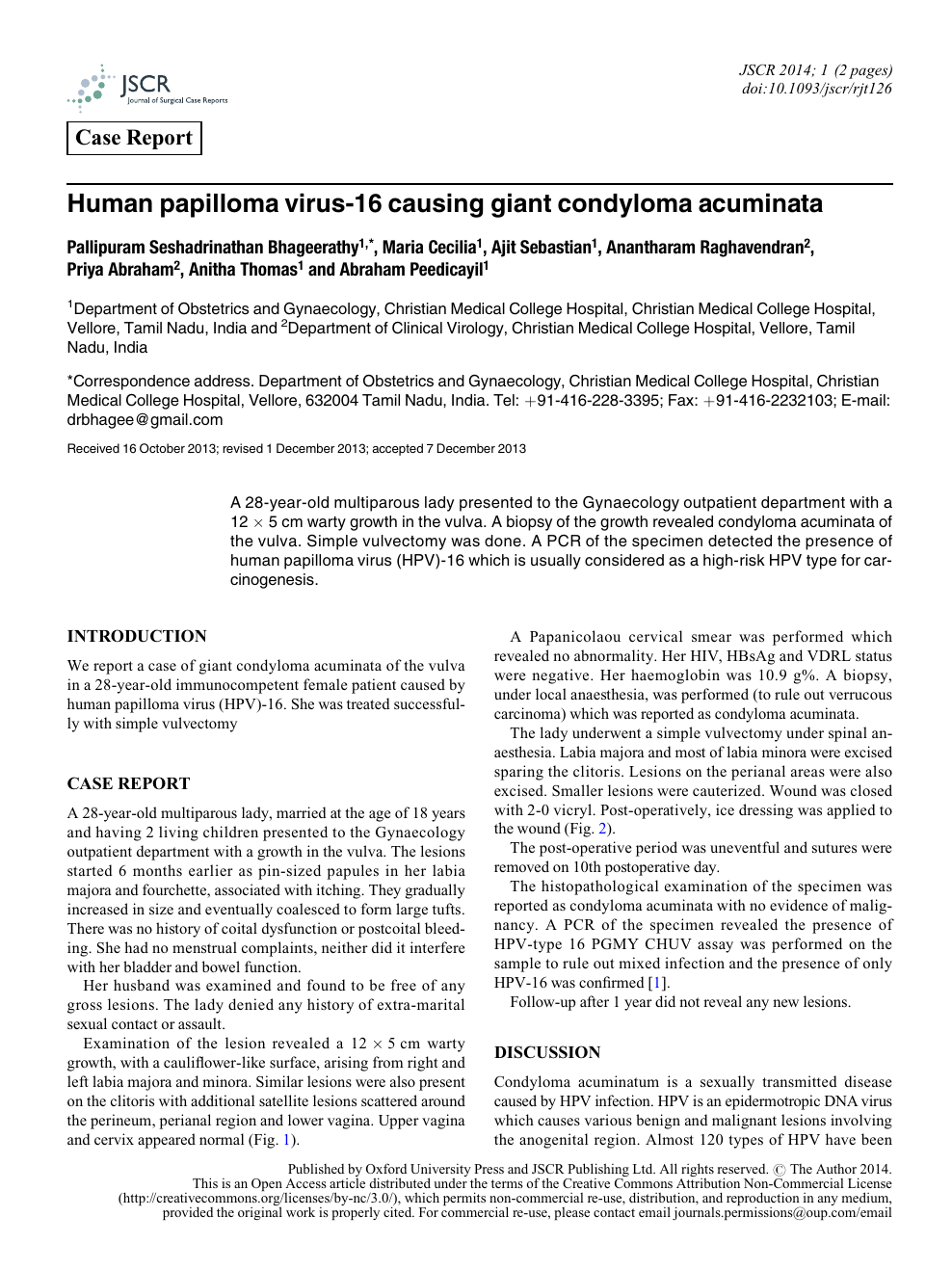 hpv vaccine research articles