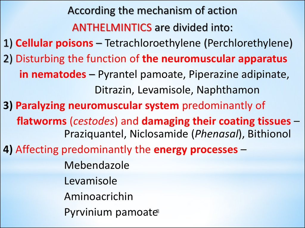 anthelmintic drugs pharmacology ppt anthelmintic response definition