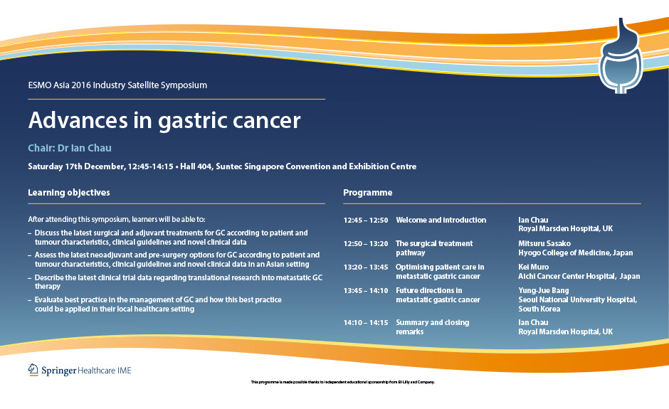 gastric cancer esmo guidelines